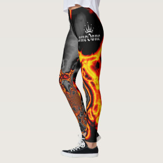 Abstract Flames Leggings