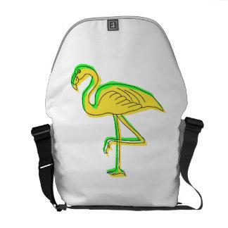 Abstract Flamingo Courier Bag