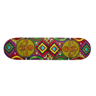 Abstract Fleur De Lis Skateboard New Orleans