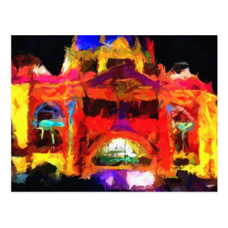 Abstract Flinders street station Postcard