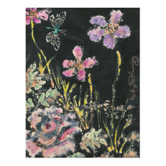 Abstract Floral Art Cards Postcard