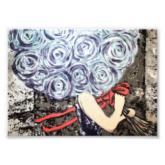 Abstract Floral Artwork Print