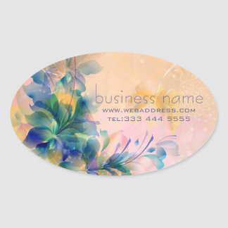 Abstract Floral Background Blue And Beige Sticker