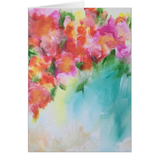 Abstract Floral Blank Card