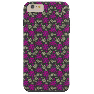 Abstract Floral Chevron Pattern Tough iPhone 6 Plus Case