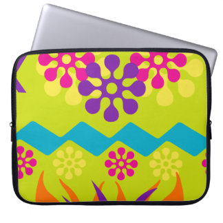 Abstract floral computer sleeve