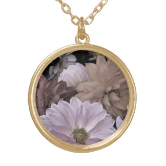 Abstract Floral Dahlia Garden Flowers Necklace