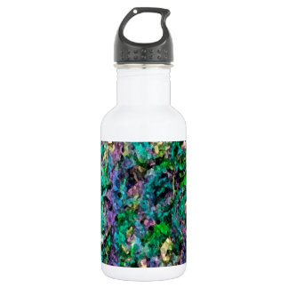 Abstract floral dark rose 532 ml water bottle