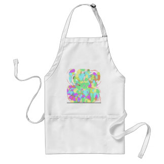 Abstract floral design adult apron