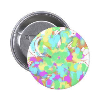 Abstract floral design button