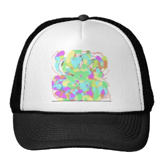 Abstract floral design trucker hats