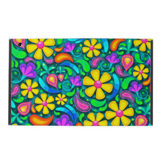 Abstract Floral Design iPad Folio Case