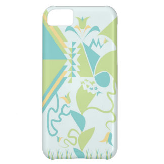 Abstract Floral Designs - Flowers - Blue iPhone 5C Cases