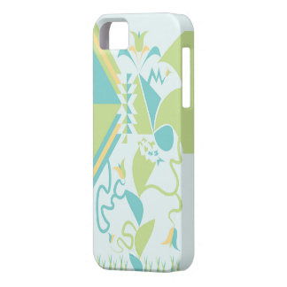 Abstract Floral Designs - Flowers - Blue iPhone 5 Covers