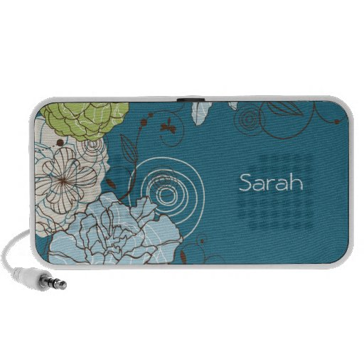 Abstract Floral Doodle Speaker