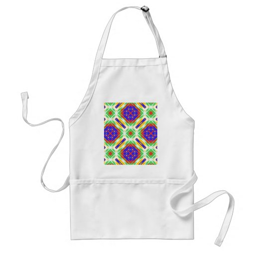 Abstract Floral Fabric Design. Spring Pattern Apron