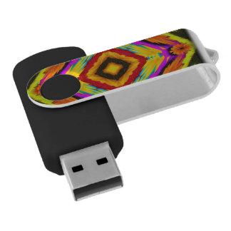 Abstract Floral Fractal Art Swivel USB 2.0 Flash Drive