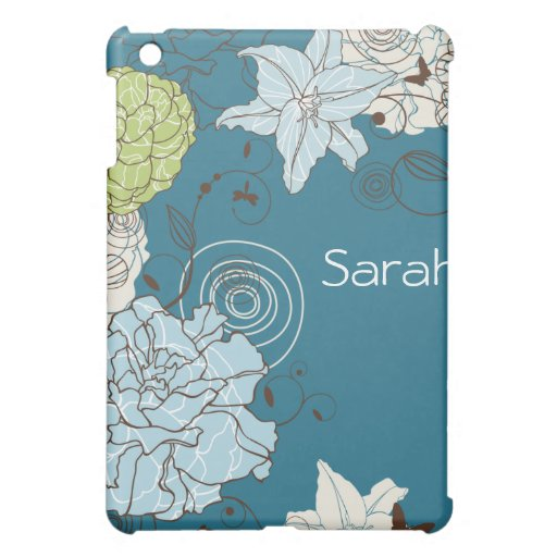 Abstract Floral  Cover For The iPad Mini