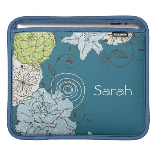 Abstract Floral iPad Sleeve