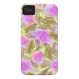 Abstract Floral iPhone 4 Case-Mate Cases