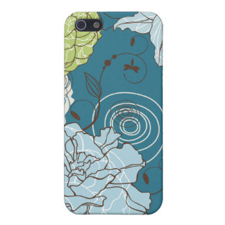 Abstract Floral iPhone 5/5S Cover