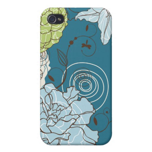 Abstract Floral Covers For iPhone 4