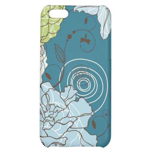 Abstract Floral iPhone 5C Cover