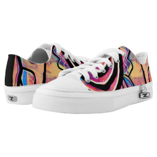 Abstract floral Low Top Shoes