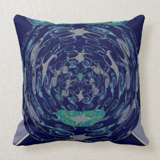 Abstract Floral Luxury Cushion - Blue Throw Pillows