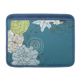 Abstract Floral Macbook Air Sleeve