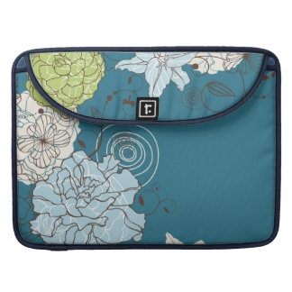 Abstract Floral Macbook Pro Sleeve