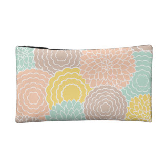 Abstract Floral Makeup Bags