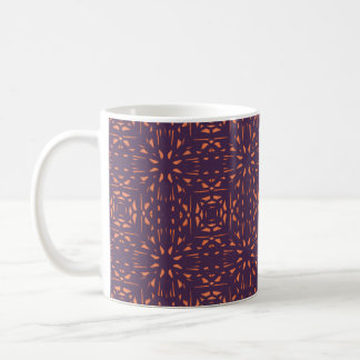 Abstract Floral Mesh On Acai Violet Background Coffee Mugs