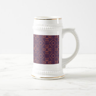 Abstract Floral Mesh On Acai Violet Background Mugs
