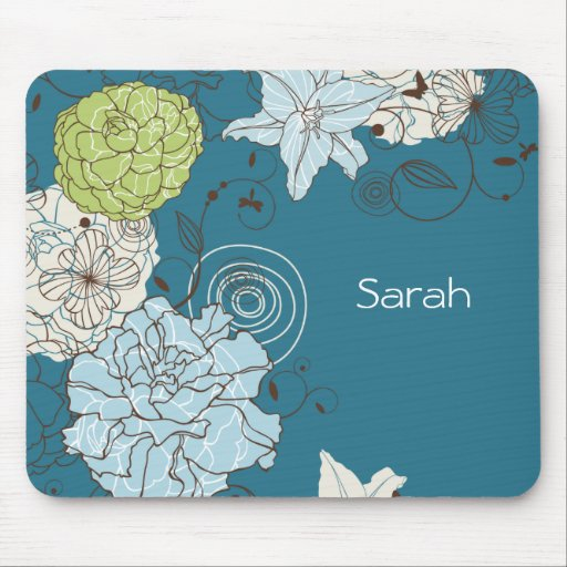 Abstract Floral Mousepad