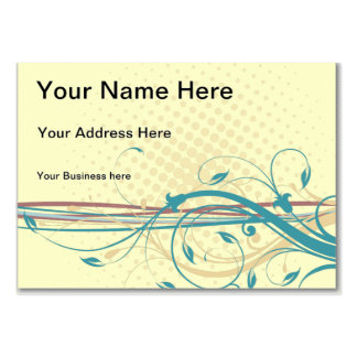 Abstract floral ornaments business card