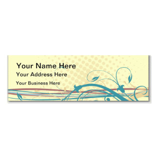 Abstract floral ornaments business cards