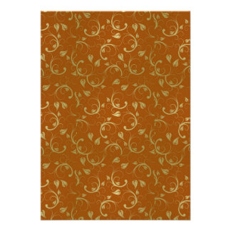 Abstract-Floral-Pattern1 ABSTRACT GOLDEN RUST FLOR Personalized Invites