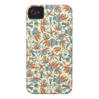 Abstract floral pattern design Case-Mate iPhone 4 case