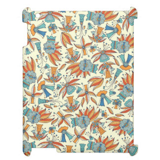 Abstract floral pattern design cover for the iPad 2 3 4