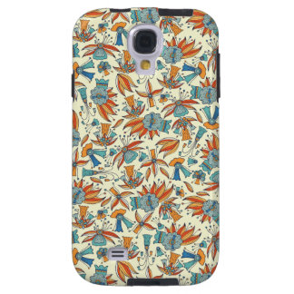 Abstract floral pattern design galaxy s4 case