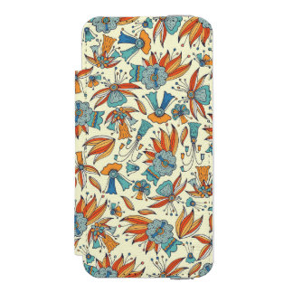 Abstract floral pattern design incipio watson™ iPhone 5 wallet case