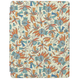 Abstract floral pattern design iPad cover