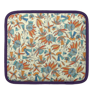 Abstract floral pattern design iPad sleeve
