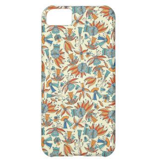 Abstract floral pattern design iPhone 5C case