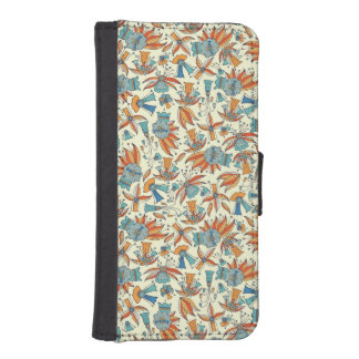 Abstract floral pattern design iPhone SE/5/5s wallet case
