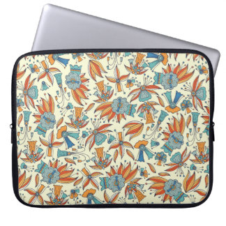 Abstract floral pattern design laptop sleeve