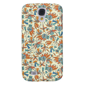 Abstract floral pattern design samsung galaxy s4 cases