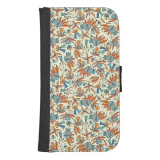 Abstract floral pattern design samsung s4 wallet case