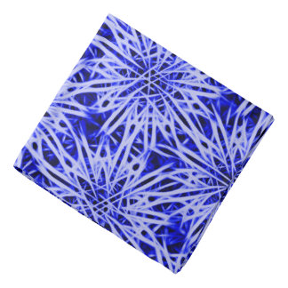 Abstract floral pattern light blue flowers bandana